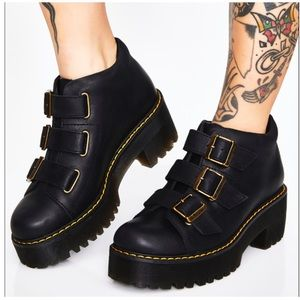 NEW Dr. Martens Copolla Leather  Strap Heeled Boot